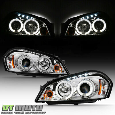 2006-2013 Chevy Impala 06-07 Monte Carlo LED Halo DRL Projector Headlights Lamps