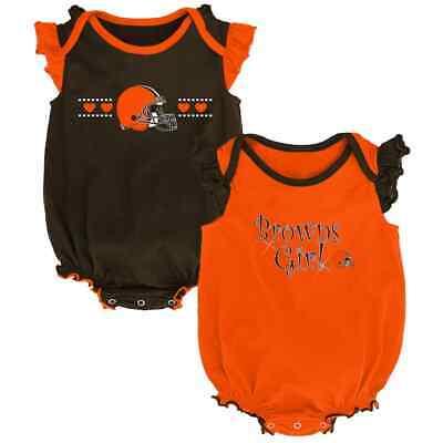 ($30) Cleveland Browns nfl INFANT BABY NEWBORN Jersey Shirt 12M 12 Months
