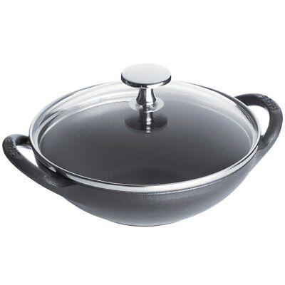 Staub 1311718 Cast Iron 0.5 Quart Baby Wok - Graphite Grey