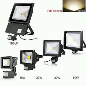 LED FLOODLIGHTS With Pir Motion Sensor Full Installed