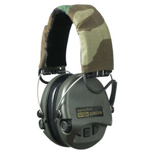 MSA Sordin Supreme Pro-X - OD Green Cups, Camo Headband