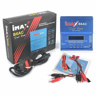 iMAX B6 AC Lipo NiMH Airplane RC Battery Balance UK Charger Discharger Plug New