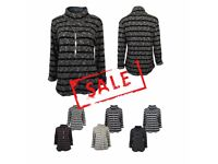 FREE DELIVERY AMAVISSE UK - New Women Fashion Jumper Turtle Neck with Stripes and Fashion Necklace