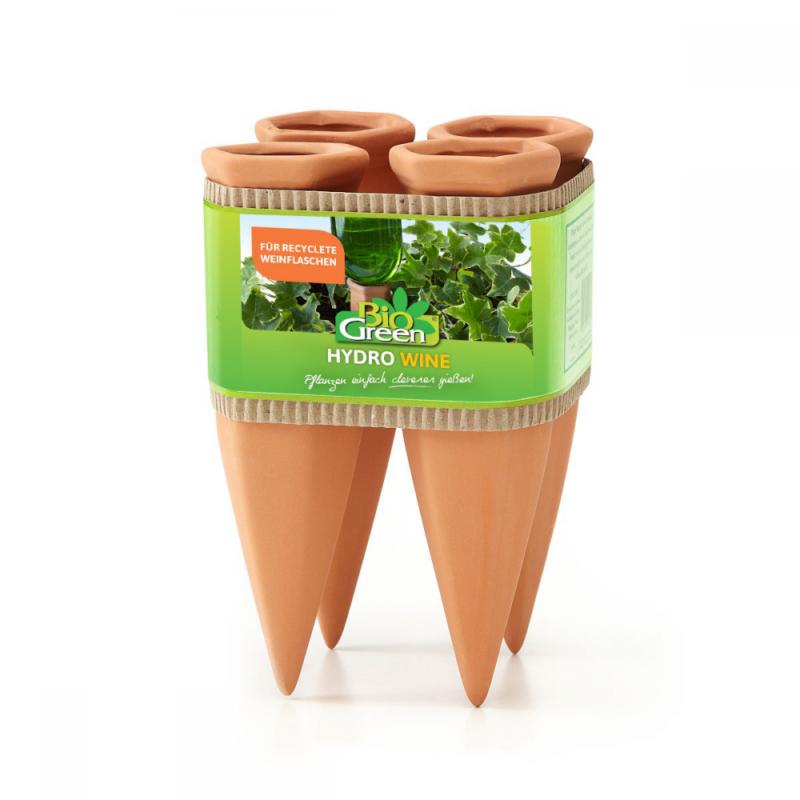 Pflanzen Bewässerung Wine Tonkegel, terracotta/grün - für Wein Flaschen