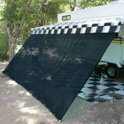 RV Awning Shade Complete Kit Sun Patio Screen Motorhome Camper Trailer 8 x 12ft