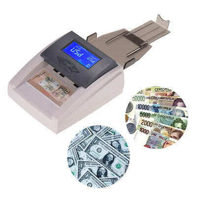 Desktop Money Counter Counting Counterfeit Machine Bank Checker Detector A6Q1