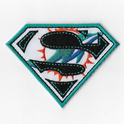 Miami Dolphins [T] Iron on Patches Embroidered Badge Patch Applique Emblem -