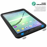 Case For Samsung Galaxy Tab S2 9.7 Poetic【Turtle】Corner Bumper Silicone Black