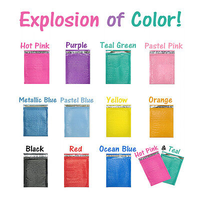 8.5x12 Colored Poly Bubble Mailers Pinkteal 8x12 Shipping Mailing Envelopes 2