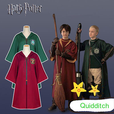 Harri Potter Quidditch Cloak Gryffindor Slytherin Magic Robe Cosplay Adult - Quidditch Robes
