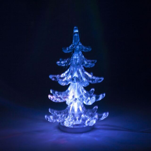 Usb 12cm mini christmas tree colour changing desktop office car usb light up christmas tree multicoloured home or office desk voltagebd Gallery