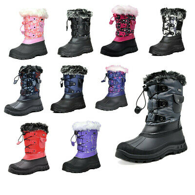 Kids Boys Girls Insulated Waterproof Snow Boots Winter Warm