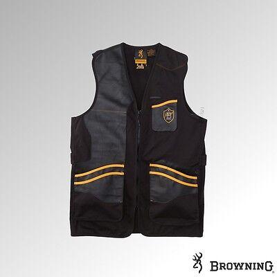 Browning Vest Masters 2 Shooting Vest RH Black/Orange (30599690xx) Browning Shooting Vest