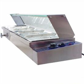 Bain Marie Stainless Steel 4 Pan Wet Commercial