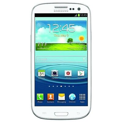 Samsung Galaxy S III SGH-T999-16GB -Marble White Tmobile (Unlocked) Smartphone  on Rummage
