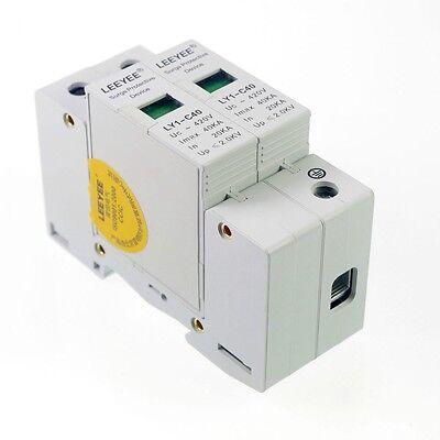 2p 20-40ka Din Rail Mount Spd Circuit Lightning Protection Device Arrester
