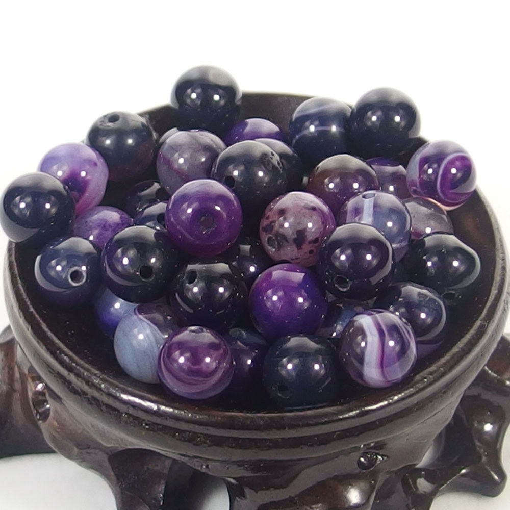 Bulk Gemstones I natural spacer stone beads 4mm 6mm 8mm 10mm 12mm jewelry design purple agate