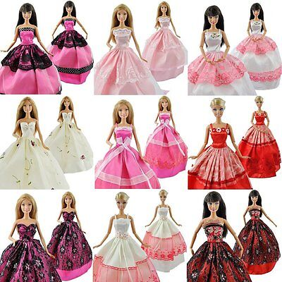 US Lot 5 Assorted Fashion Handmade Clothes Dresses Grows Outfit for Barbie Doll