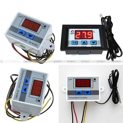 12v24v220v Digital Led Temperature Controller Thermostat Control Switch Probe