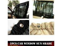 2x Adjustable Car SUV Window Anti-UV Sun Shade Drape Visor Curtain Universal New