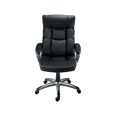 Staples Burlston Luxura Faux Leather Manager Chair Black 24810 69022