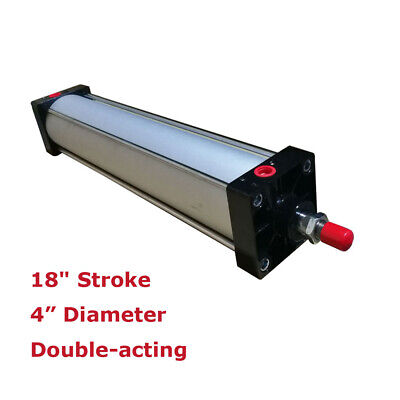 18 Stroke Air Cylinder 4 Bore Double Acting Pneumatic Cylinder