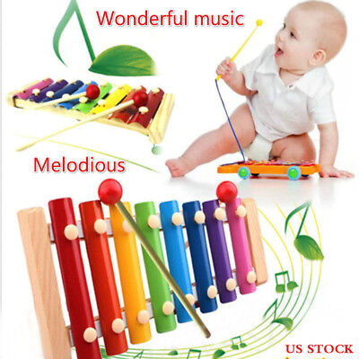 Wooden Musical Instrument - Beautiful Voice Baby Wisdom Development Musical Toys Xylophone Wooden Instrument
