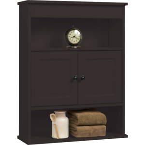 Chapter Bathroom Wall Medicine Cabinet Storage Shelf Espresso Vanity Towel  Rack