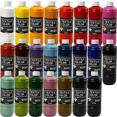Stoff-farben (500ml Stoffmalfarbe BASIC  - 24 FARBEN - Textilfarbe Stoffe Farbe (EUR 15,98/L))