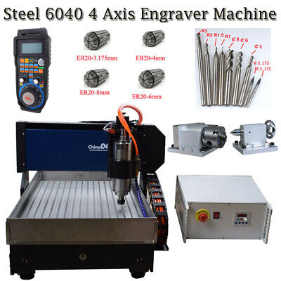 Steel 6040 4axis 2.2kw Engraver Router Diy Millingcutting Machine For Aluminum
