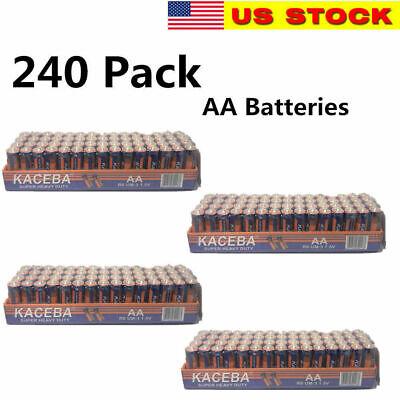 240 AA Batteries Extra Heavy Duty 1.5v. Wholesale Lot New Fresh