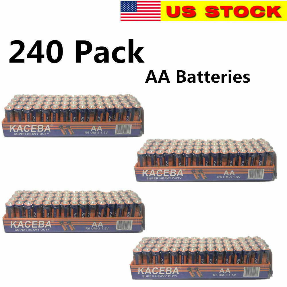 240 AA Batteries Extra Heavy Duty 1.5v. Wholesale Lot New Fr