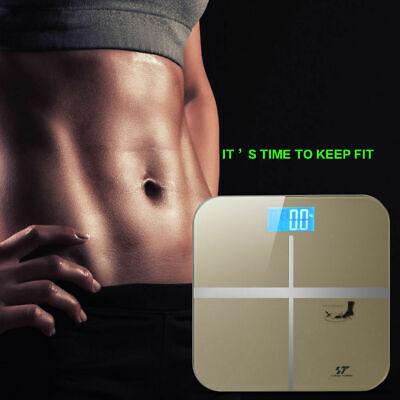 180KG Digital LCD Glass Bathroom Scale Body Weight Watchers