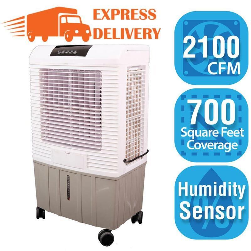 Portable Evaporative Cooler Swamp Cooler 700 sq ft 2,100 CFM