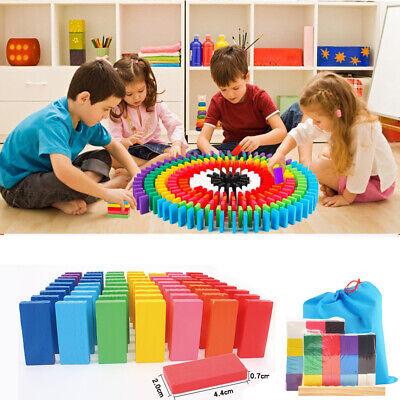 1 Set/120 PCS Domino-Set, Bunt Holz Dominosteine Set Blöcke Set Building Kits (Holz Domino Set)