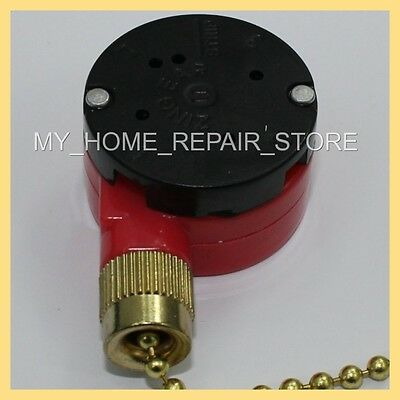 OEM RPLCMNT—3 SPEED—4 WIRE—PULL CHAIN SWITCH—4 HARBOR BREEZE CEILING (Ceiling Fan Pull Chain Switch 4 Wire)