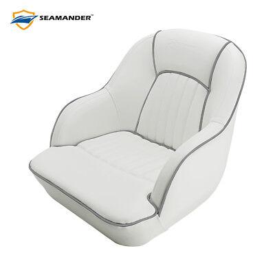 Seamander  Pontoon Furniture Bucket Seat, Captain Seat, Gray,Blue,Red,White Pontoon Bucket Seat