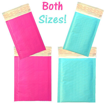 6x9 4x8 Combo Both Sizes Pink Aqua Self Seal Rigid Envelope Bubble Mailers