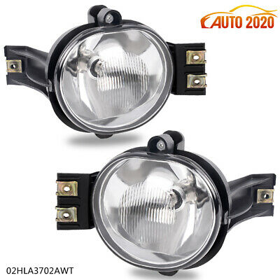 Fog Lights Pair+Bulb For 02-08 Dodge Ram 1500 2500 3500 /2004-2006 Dodge Durango