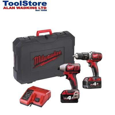 Milwaukee 18v M18BPP2C-402C Twin Pack M18BPD + M18BID 2 x 4.0Ah batteries