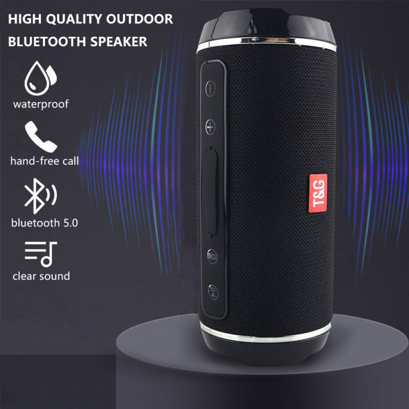 Portable Speaker Wireless Waterproof Bluetooth 5.0 Stereo Bass USB TF AUX MP3 UK