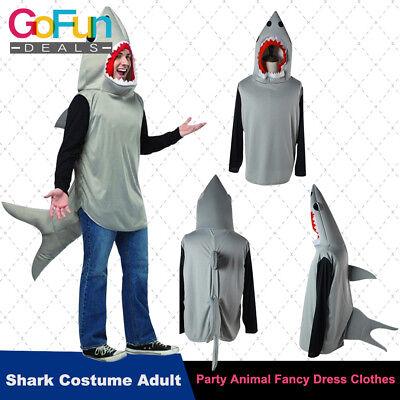 Halloween Hai Kostüm Cosplay Erwachsene Party Tier Kostüm Kleidung Unisex ()