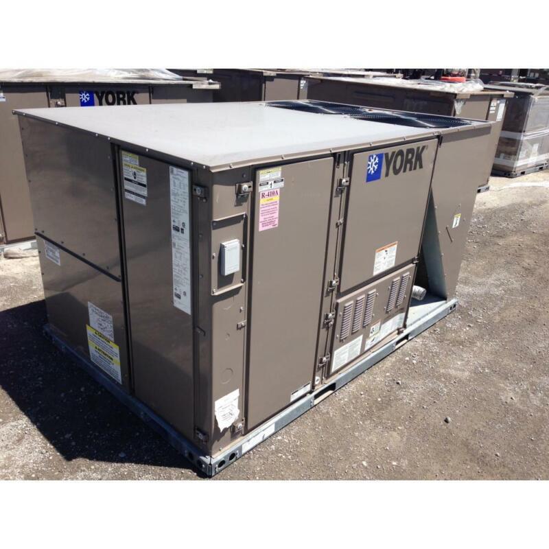 YORK ZJ102N10W4KAA7 8.5 TON 2 STAGE ROOFTOP GAS/ELEC AC UNIT, 12 EER 80% 460V