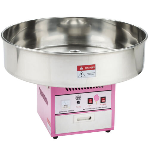 """Carnival King Commercial Cotton Candy Machine Countertop Maker 28"""" Round Bowl"""