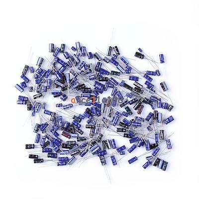 210pcs 25 Value 0.1uf-220uf Electrolytic Capacitors Condenser Assortment Kit Set
