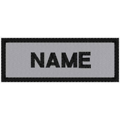 CUSTOM EMBROIDERED  REFLECTIVE MOTORCYCLE NAME PATCH