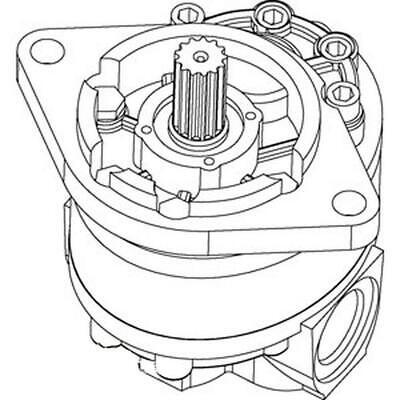 D48950 Hydraulic Pump Fits Case Backhoe 480b 480c 580b 580c 580f D53690