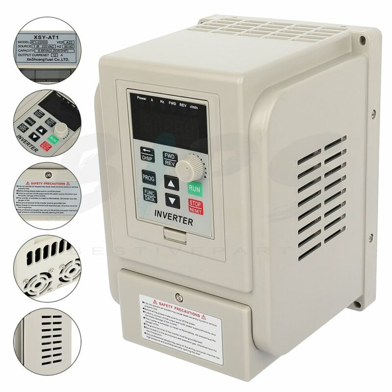 3HP 220V 2.2kw Variable Frequency Drive Single to 3 Phase Speed Controller