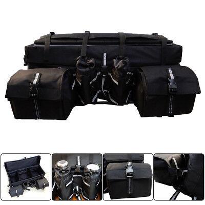 Universal ATV Rack Rear Padded Storage Cargo Luggage Gear Bag Seat -