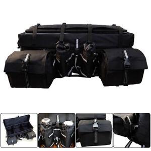 ATV Rack Bag Rear Stealth Universal Padded Storage Cargo Bag for Polaris Honda